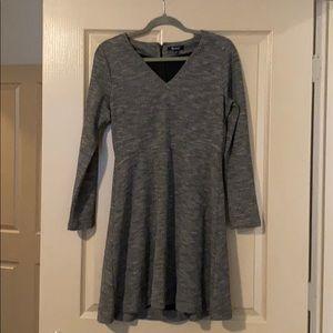 ⚡️CLEARANCE Grey tweed long sleeve MADEWELL dress
